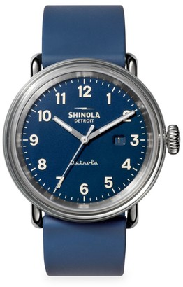 Shinola Detrola The Daily Wear Stainless Steel & Silicone Strap Watch