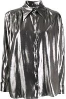 Alberta Ferretti Metallic Loose-Fit Shirt