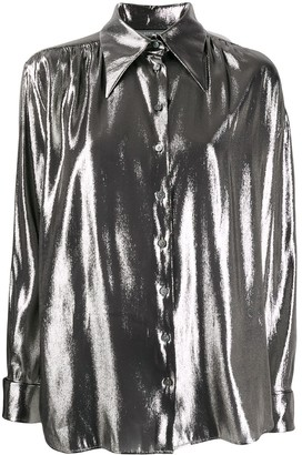 Alberta Ferretti Metallic Loose-Fit Shirt