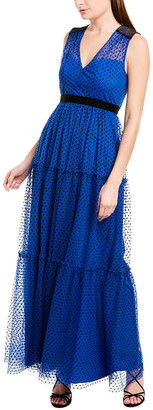 BCBGMAXAZRIA Dot Maxi Dress