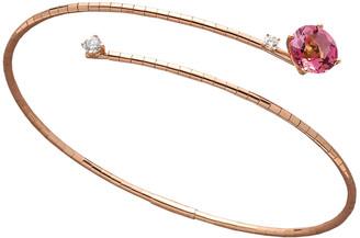 Mattia Cielo 18k Rose Gold Pink Tourmaline & Diamond Coil Bracelet