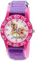 Disney Girl's 'Palace Pet' Quartz Plastic and Nylon Watch, Color:Purple (Model: W002829)
