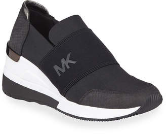 MICHAEL Michael Kors Felix Wedge Trainer Sneakers