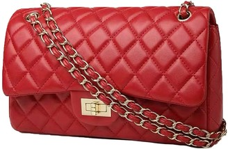 Goodnight Macaroon 'Sofia' Quilted Faux Leather Chain Strap Bag (3 Colors)