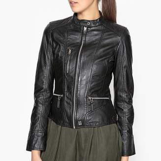 Oakwood Each Leather Jacket with Zip Fastening