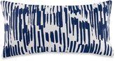 Kate Spade Paint Drip Oblong Throw Pillow in Navy