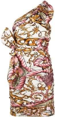 Moschino Fantasy print ruched mini dress