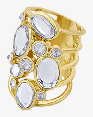 Isharya Limelight Cluster Of Mirrors Statement Ring