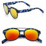 Italia Independent 50MM Camouflage Round Sunglasses