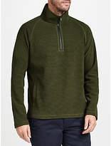 John Lewis Textured Fleece Jumper, Green