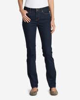 Eddie Bauer Women's StayShape Straight Leg Jeans - Slightly Curvy