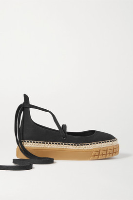 Prada Canvas Espadrilles - Black