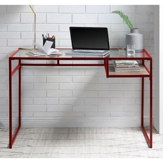 Latitude Run Doke Glass Desk