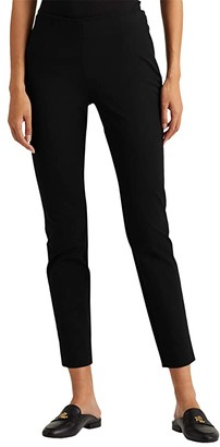 Lauren Ralph Lauren Stretch Twill Skinny Pants (Black) Women's Casual Pants