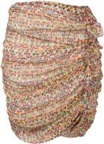 Etoile Isabel Marant ruffle-trimmed printed skirt