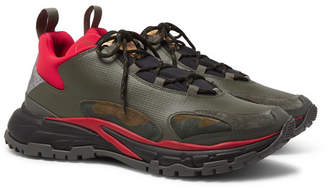 Valentino Garavani Trekking Leather, Suede, Neoprene And Coated-Ripstop Sneakers