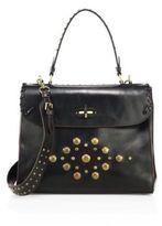 Ralph Lauren Medium Tiffin Studded Leather Top-Handle Bag