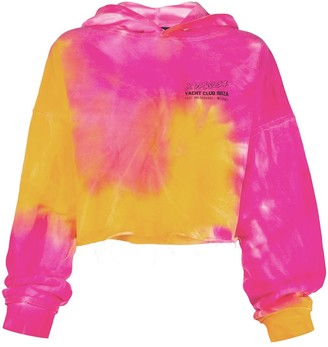 Misbhv Tie-Dye Cropped Hooded Sweatshirt