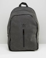 adidas Suede Look Backpack With Tonal Trefoil Logo