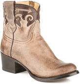 Stetson Tan Horik Ankle Leather Cowboy Boot