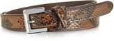 Forzieri Brown Python Leather Skinny Women's Belt