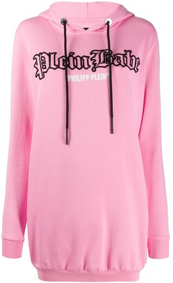 Philipp Plein Hooded Logo Dress