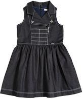 Junior Gaultier Light Cotton Denim Biker Dress