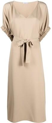 P.A.R.O.S.H. V-neck tie waist dress