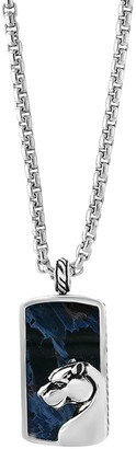Effy Sterling Silver Pietersite Dog Tag Necklace