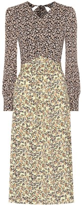 Rebecca Vallance Ellie floral crApe midi dress