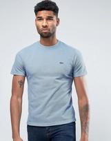 Lacoste Birds' Eye Pique T-Shirt Croc Logo Regular Fit in Blue