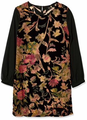 Only Hearts Women's Tapestry Devore Shift Dress with Liner