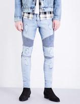 Represent Biker skinny stretch-denim jeans