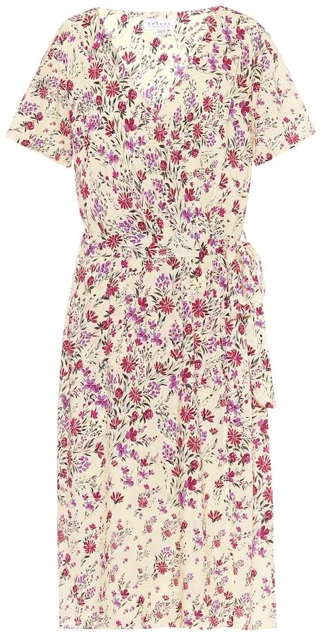 Velvet Rona floral-print midi dress