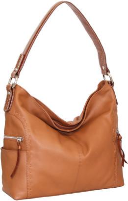 Nino Bossi Handbags Women's Hobos Cognac - Cognac Leather Kyah Hobo Bag