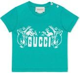 Gucci Kids crocodile print T-shirt