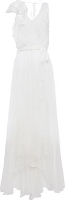 Temperley London Lullaby Layered Wrap-effect Ruffled Silk-chiffon Maxi Dress