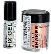 Stargazer Loose Glitter Shaker for Hair& Body with Glitter Fix Gel /Glue-UV Orange by Stargazer
