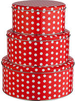 Living HOME Set of 3 Polka Dot Cake Tins