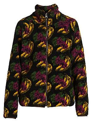 Acne Studios Men's Fuzz Polar Fleece Zip-Up Sweatshirt