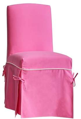 Pottery Barn Teen Slipcover Desk Chair, Pink Slipcover with White Piping + Insert