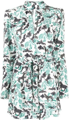 Saloni Animal Print Dress