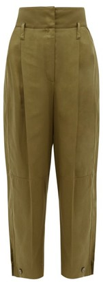 Givenchy High-rise Canvas Tapered Trousers - Khaki