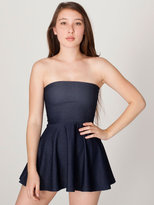 American Apparel Faux Denim High-Waist Skirt