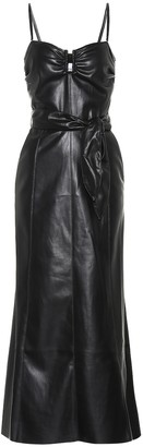 Nanushka Anja strapless faux leather dress