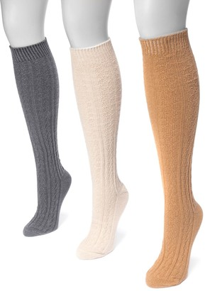 Muk Luks Women's 3-pk. Cable-Knit Knee-High Socks