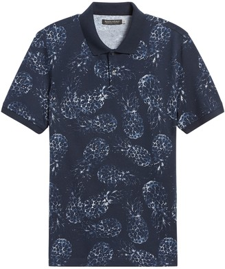 Banana Republic Don't-Sweat-It Print Polo Shirt
