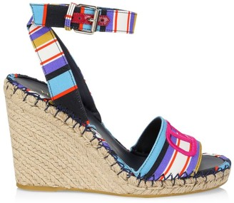 Valentino VLogo Espadrille Wedge Sandals