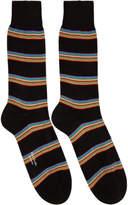 Paul Smith Black Multi Block Socks