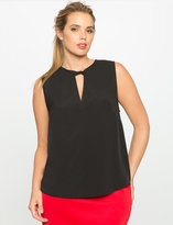 ELOQUII Plus Size Twist Neck Top